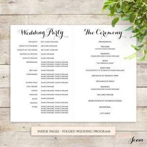 wedding program template free best order of service ideas on pinterest with regard to wedding ceremony order of service template