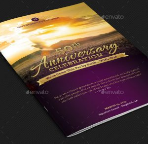 wedding program template free church anniversary service program template