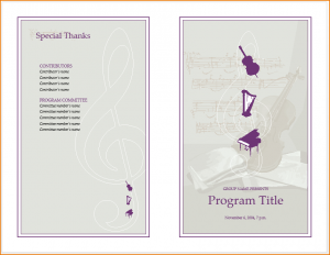 wedding program template free music program template vnj music concert event program template