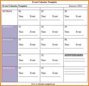 wedding program template free schedule of events template event calendar template