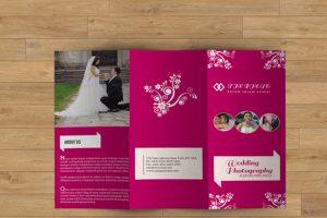 wedding program template free wedding event brochure template