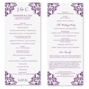 wedding program template word il xn unr