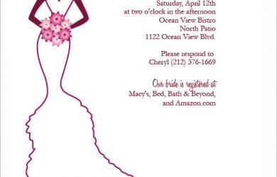 wedding programme design elegant bridal shower invitation template
