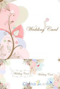 wedding programme design exquisite wedding cards vector design