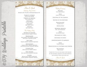 wedding programme design il fullxfull lc