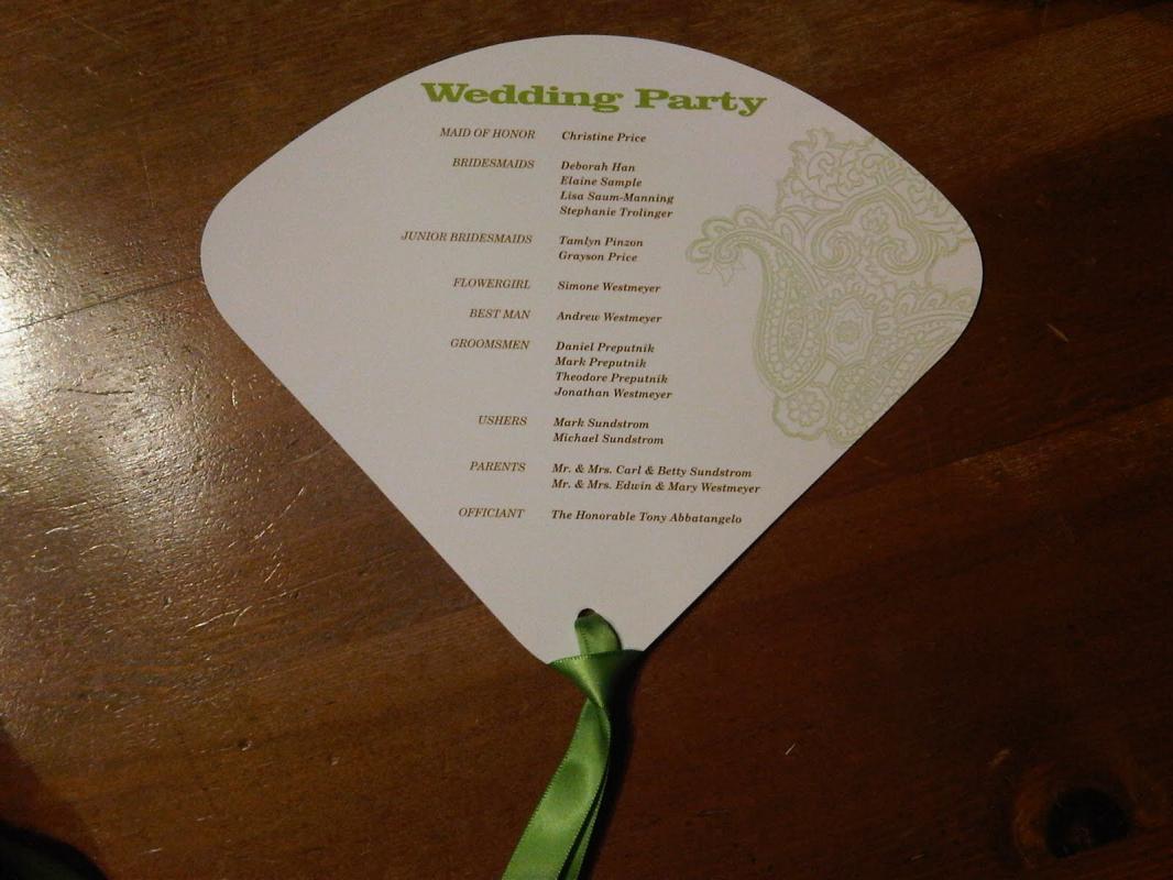 wedding programs fans templates