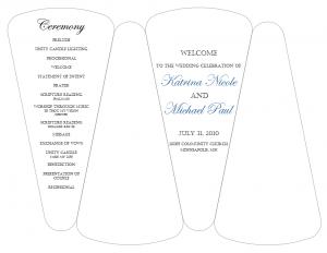 wedding programs fans templates fanprogramtemplate