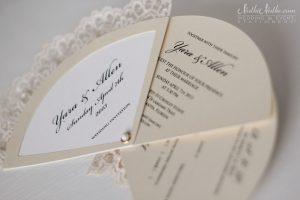 wedding programs fans templates wedding invitation fan three parts with rsvp