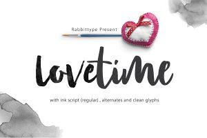 wedding script font lovetime script