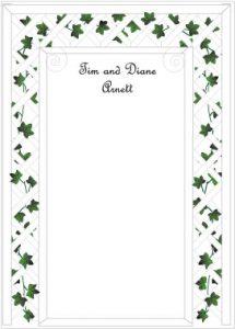 wedding script font wedding anniversary invitations ivy trellis ty