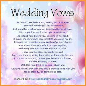 wedding thank you example wedding vows template febaeedca