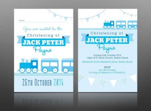 wedding thank you examples christening invite design for boy blue best