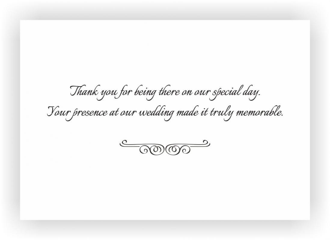 wedding thank you examples