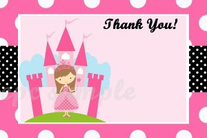 wedding thank you note templates princess thank you cards printable thank you note cards that will be emailed to you for you to print hair and skin color can be changed no extra charge