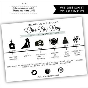 wedding timeline template simple clear wedding time line template for download