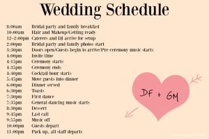 wedding timeline template wedding timeline x
