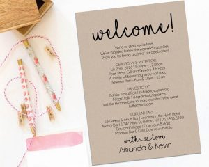 wedding weekend itinerary welcome letter wedding itinerary printable welcome letter itinerary printable wedding weekend welcome bag welcome box editable