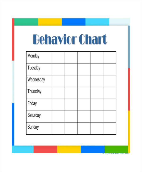 weekly behavior charts