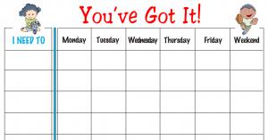 weekly behavior charts free weekly behavior chart youve got it