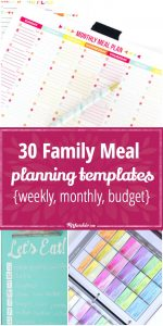 weekly budget printable family meal planning templates weekly monthly budget