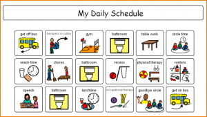 weekly budget printable daily schedule maker picture