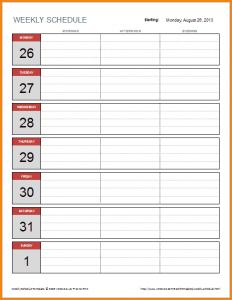 weekly budget printable weekly schedule template excel simple weekly schedule