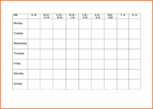 weekly budget printable weekly table template weekly revision timetable cb