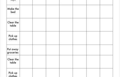 weekly chore chart free weekly chore chart template
