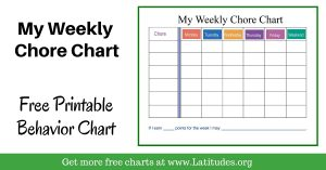 weekly chore chart my weekly chore chart intermediate wordpress