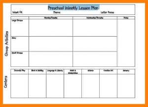 weekly lesson plan for preschool printable lesson plan template excel preschool weekly blank lesson plan