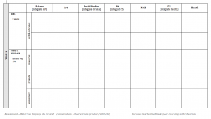 weekly lesson plan for preschool screen shot at am