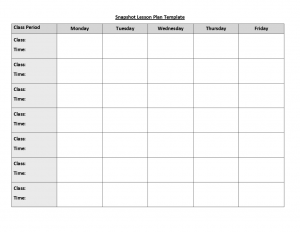 weekly lesson plan template doc lesson plan templates six pack