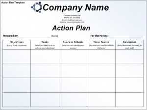 weekly lesson plan template doc action plan template