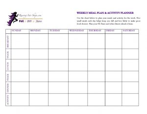 weekly lesson plan template pdf meal plan