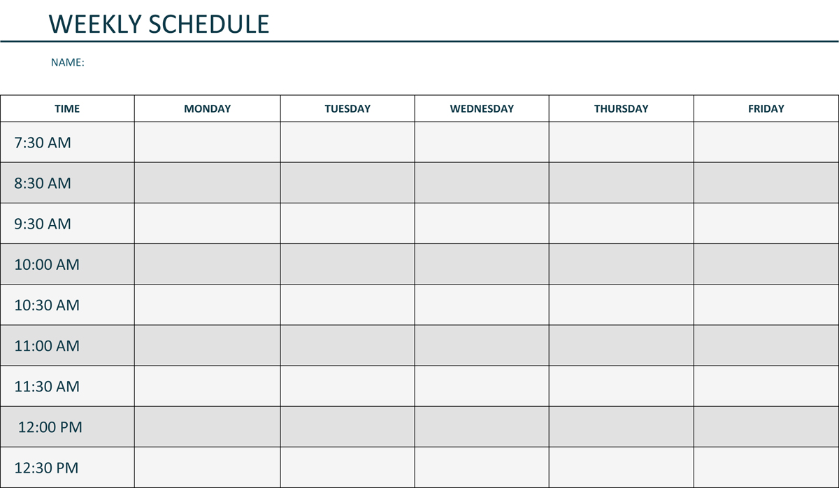 weekly lesson plan template pdf