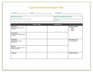 weekly lesson plan template word lesson plan templates x