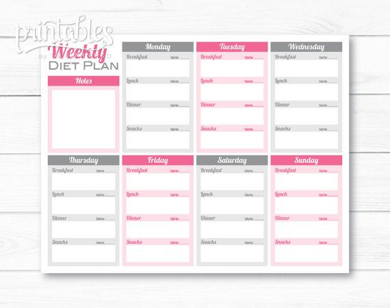 weekly weight loss chart
