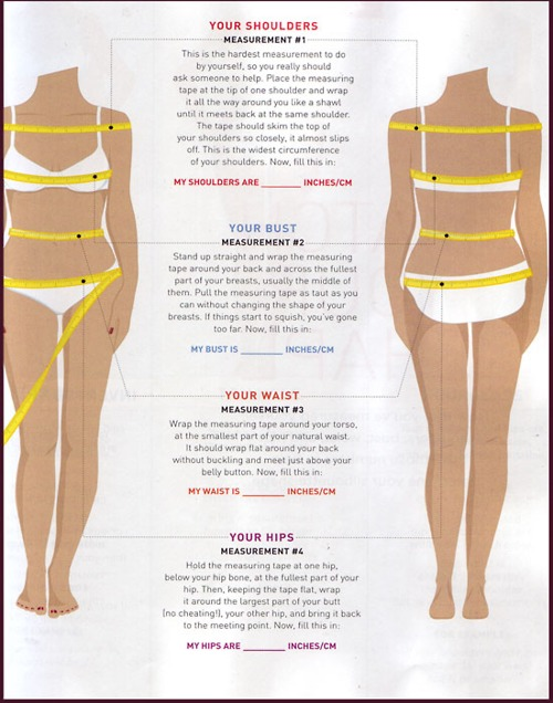 weight loss measurement chart