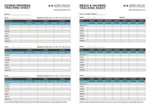 weight tracker chart fitness progress
