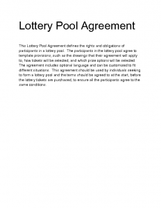 welcome letter template dvudi lottery pool agreement