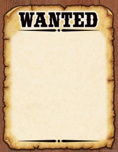western wanted poster tcr