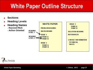 white paper outline white paper marketing tutorial outline