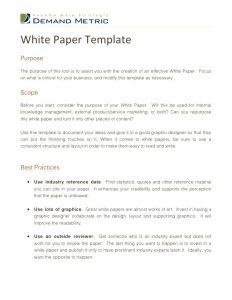 white paper outline white paper template