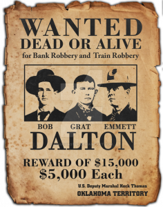 wild west wanted poster dalton gang wanted poster by kingcoaster ds