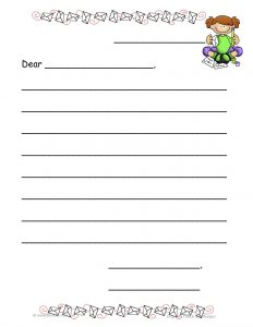 will writing template letter template for kids writing professional letters example