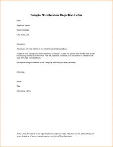 will writing template sample rejection letter application how to write a rejection