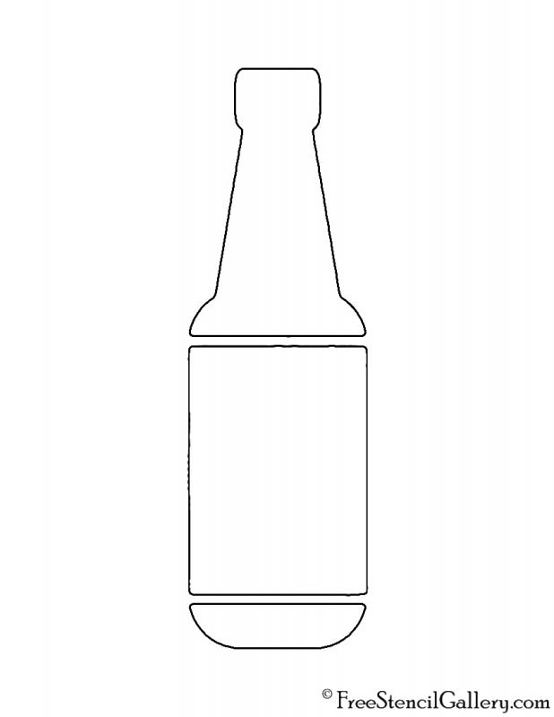 wine bottle template