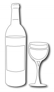 wine bottle template fra die