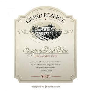 wine label template elegant wine label