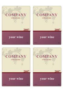 wine label template wineb